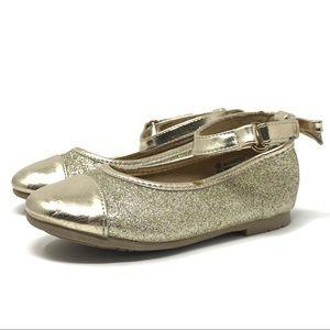 Flats • Little Girls • Size 6 • Gold Glitter